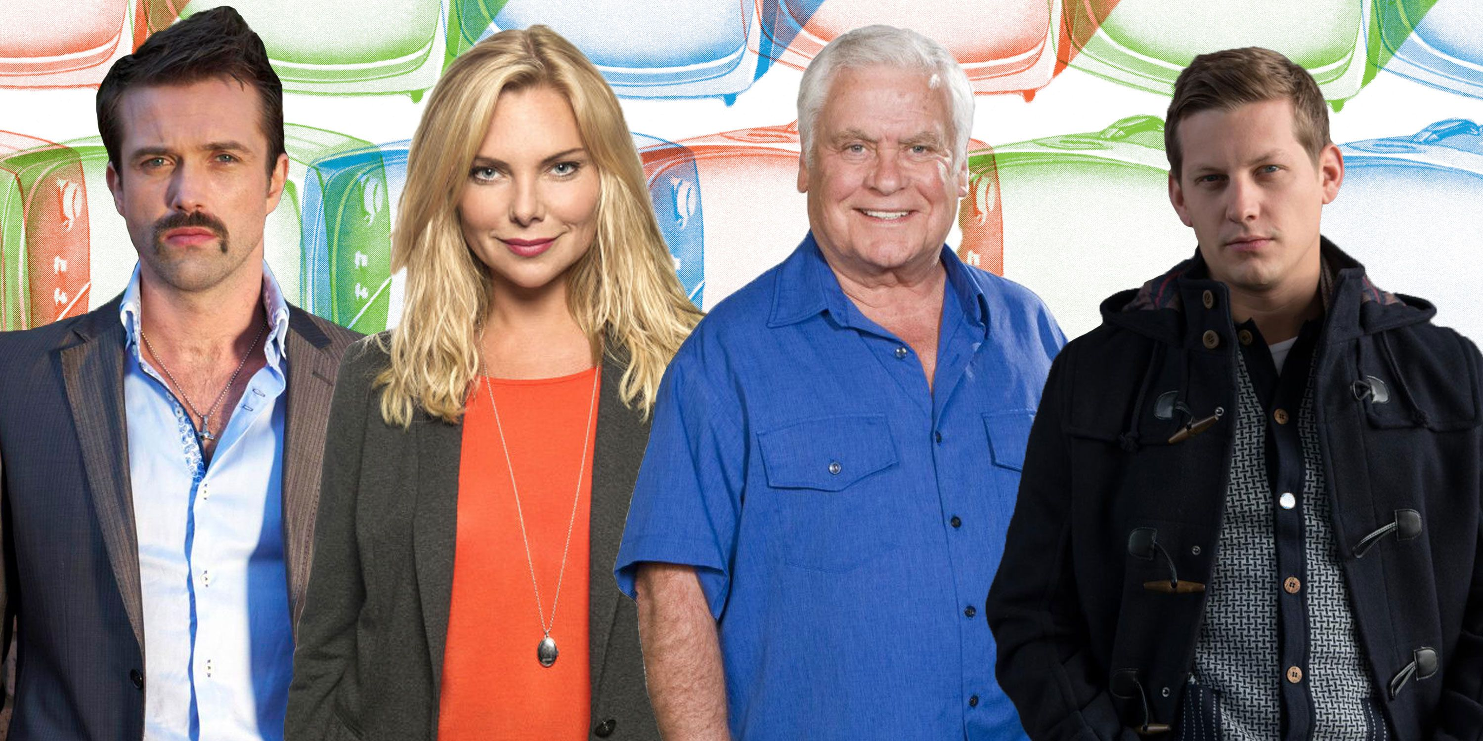 Brendan Brady, Hollyoaks, Ronnie Mitchell, Eastenders, Lou Carpenter, Neighbours, John-Paul McQueen, Hollyoaks