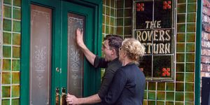 Steve and Liz McDonald get locked out of the Rovers Return in Coronation Street