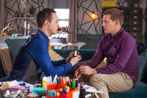 James Nightingale proposes to John Paul McQueen in Hollyoaks