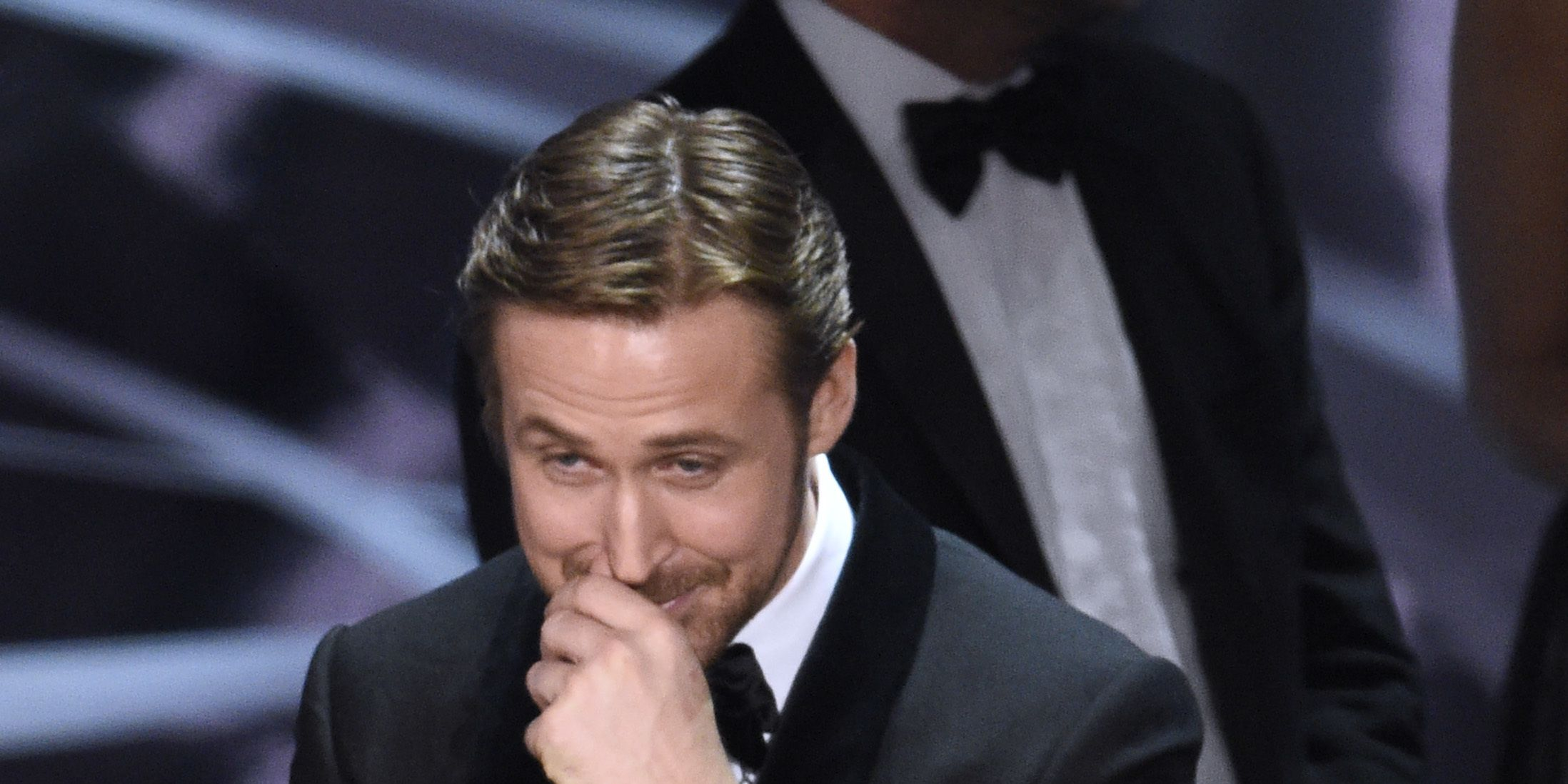 Ryan Gosling reacts to Best Pictures Oscars mistake