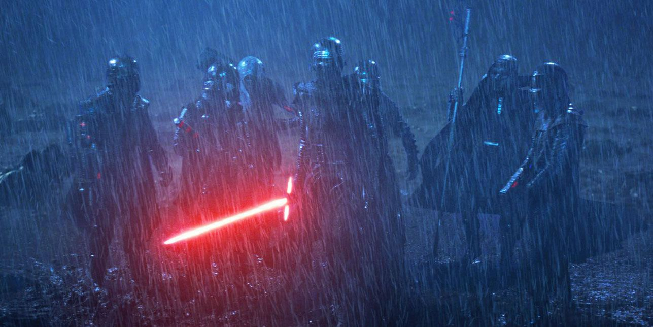 Knights of Ren in Rey's vision Star Wars: The Force Awakens