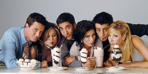 Friends cast: Jennifer Aniston, Matthew Perry, David Schwimmer, Lisa Kudrow, Courteney Cox, Matt LeBlanc