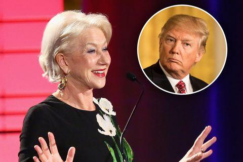 Helen Mirren/Donald Trump composite