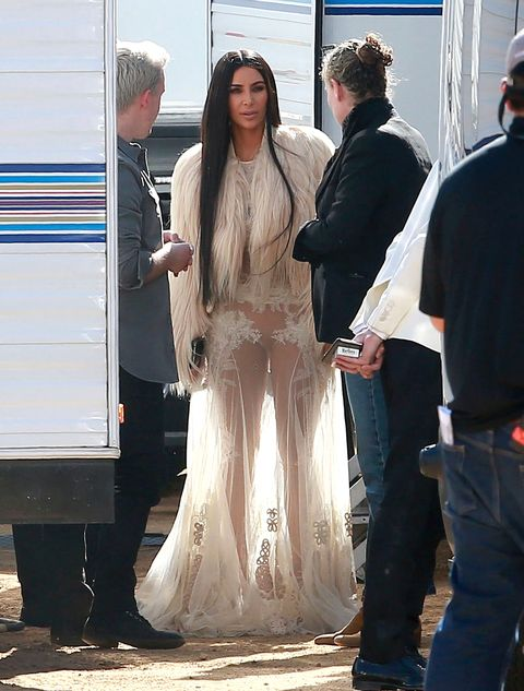 Kim Kardashian, on the set of Oceans 8, Los Angeles, March 6 2017