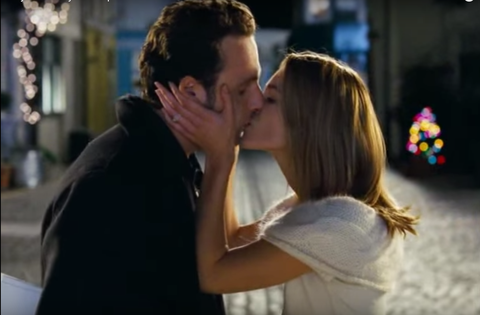 Andrew Lincoln and Keira Knightley kiss in Love Actually