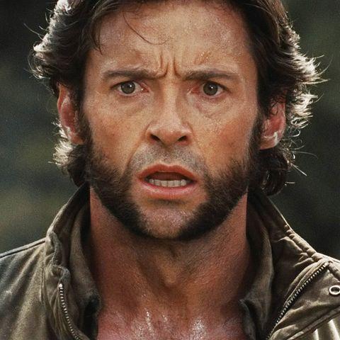 Hugh Jackman as shocked Wolverine