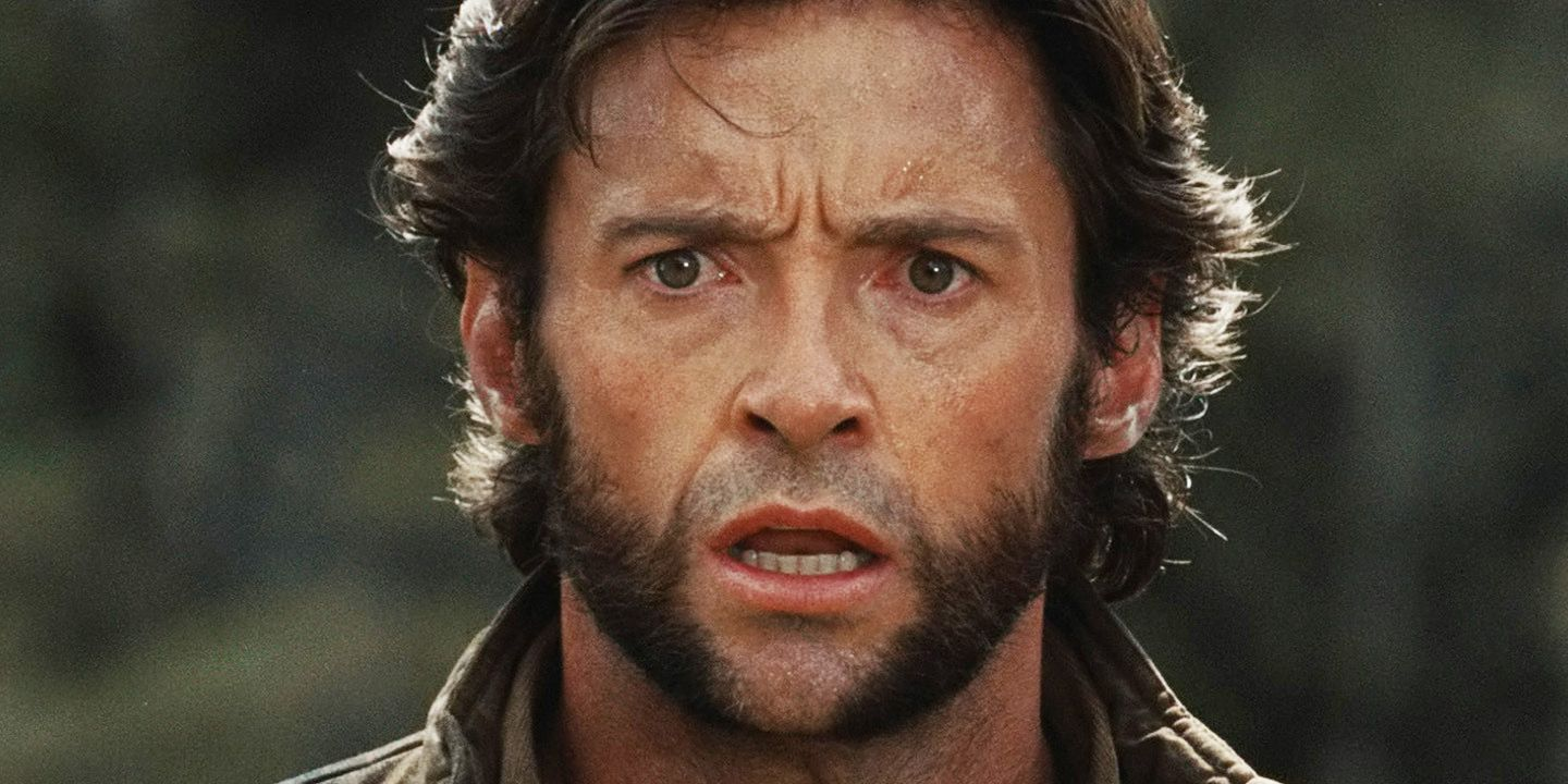 Hugh Jackman as shocked Wolverine