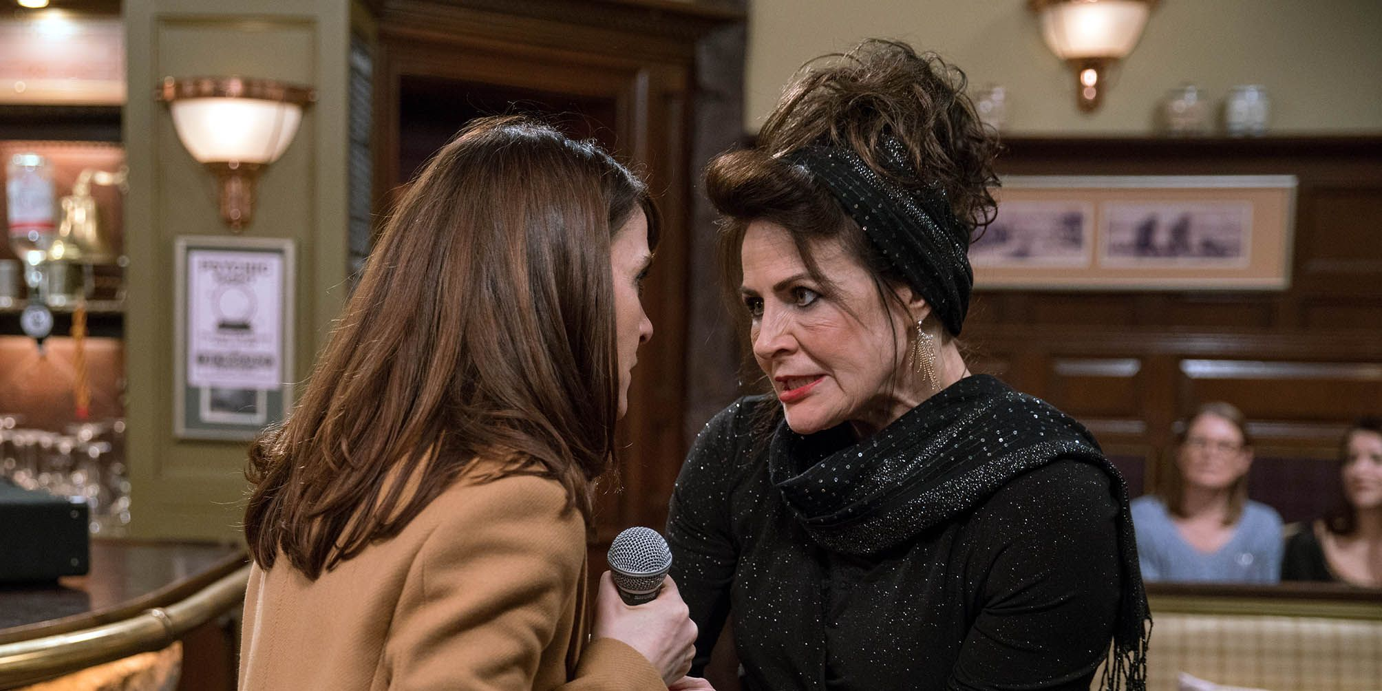 EMBARGO 14/3 Emma loses it as Faith's pyschic night in Emmerdale