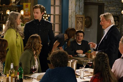 EMBARGO 14/3 Sinead and Daniel get a shock when they arrive at the Bistro in Coronation Street