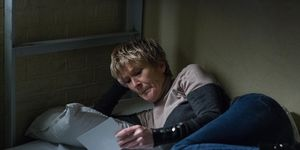 Shirley Carter in her prison cell in EastEnders