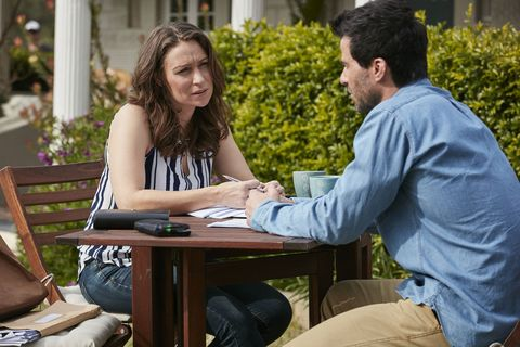 Bianca Scott and Zac MacGuire have a heart-to-heart in Home and Away