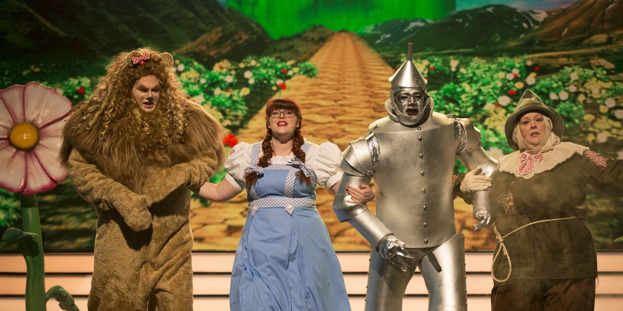 The Chasers (Anne Hegerty, Jenny Ryan, Mark Labbett and Shaun Wallace) perform a medley from the classic musical Wizard Of Oz