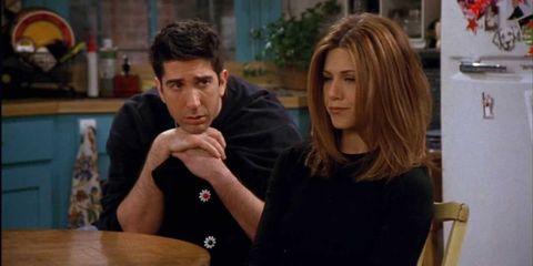 Ross and Rachel break up on 'Friends'