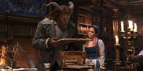 Beauty and the Beast Belle and the Beast reading - Emma Watson and Dan Stevens