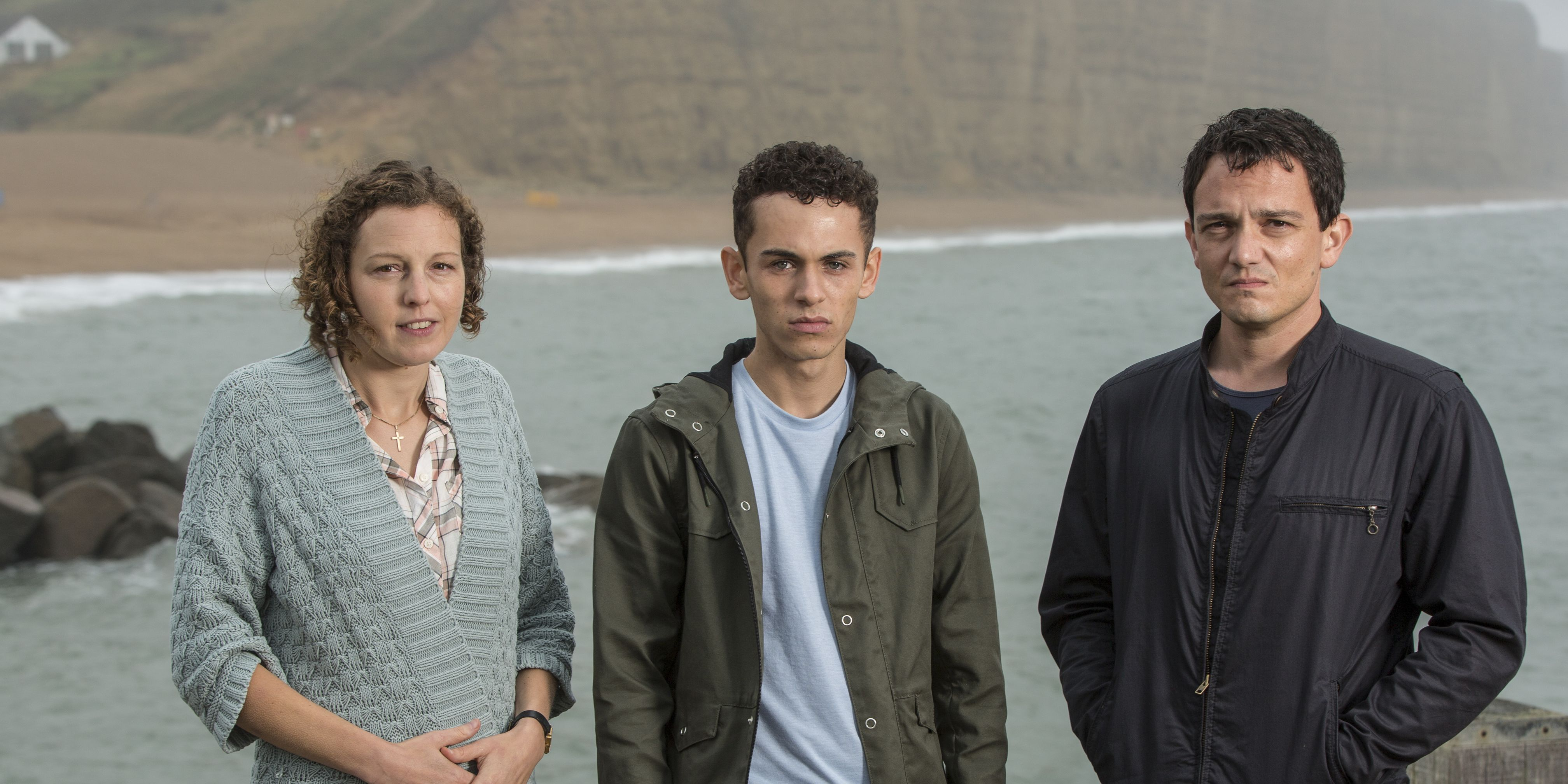Clive Lucas and family in 'Broadchurch' series 3