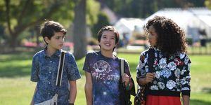 Disney's Andi Mack TV show, Joshua Rush, Peyton Elizabeth Lee, Sofia Wylie