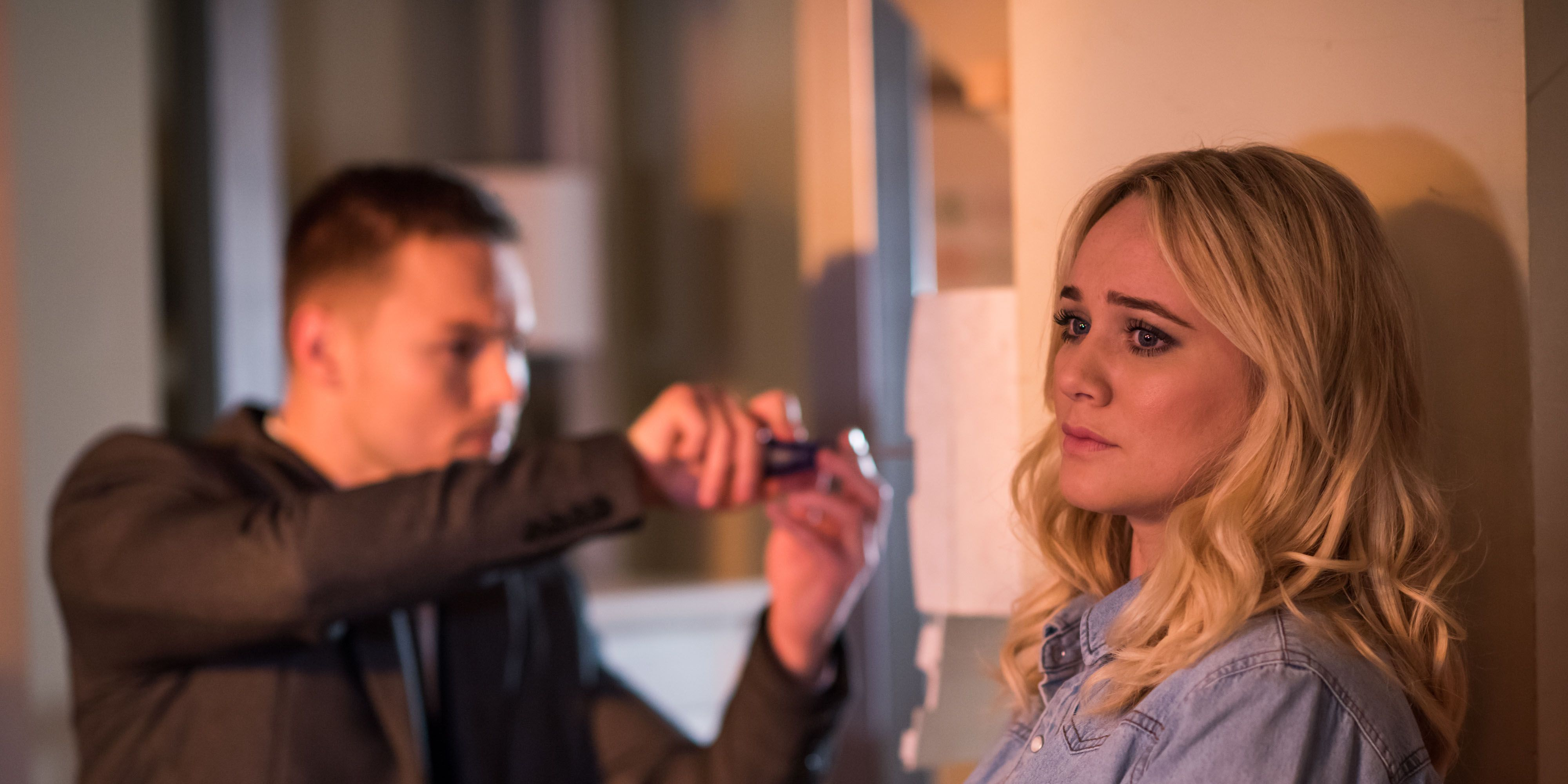 Leela Lomax worries Cameron Campbell has escaped in Hollyoaks