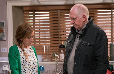 EMBARGO 21/3 Laurel is struggling to forgive Doug in Emmerdale