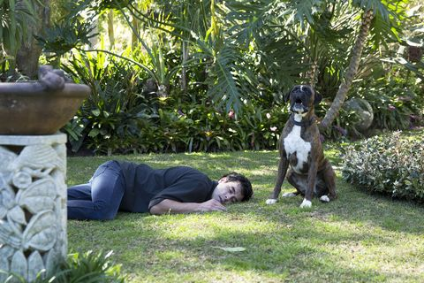 Justin Morgan collapses in Home and Away
