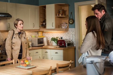 Michelle Fowler warns Stacey and Martin that Bex is seeing Preston in EastEnders