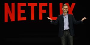 Netflix CEO Reed Hastings delivers a keynote address at CES 2016 at The Venetian Las Vegas on January 6, 2016 in Las Vegas, Nevada. CES, the world's largest annual consumer technology trade show, runs through January 9 and is expected to feature 3,600 exhibitors showing off their latest products and services to more than 150,000 attendees. (Photo by Ethan Miller/Getty Images)