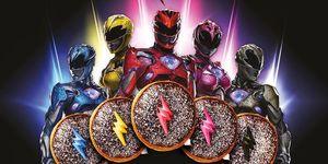Power Rangers Krispy Kreme Donuts poster