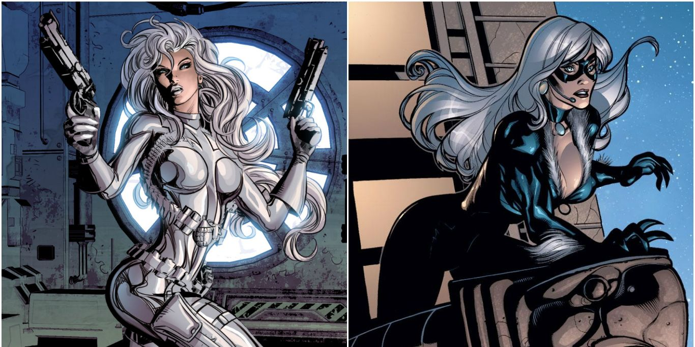 Silver Sable and Black Cat Spider-Man supporting characters