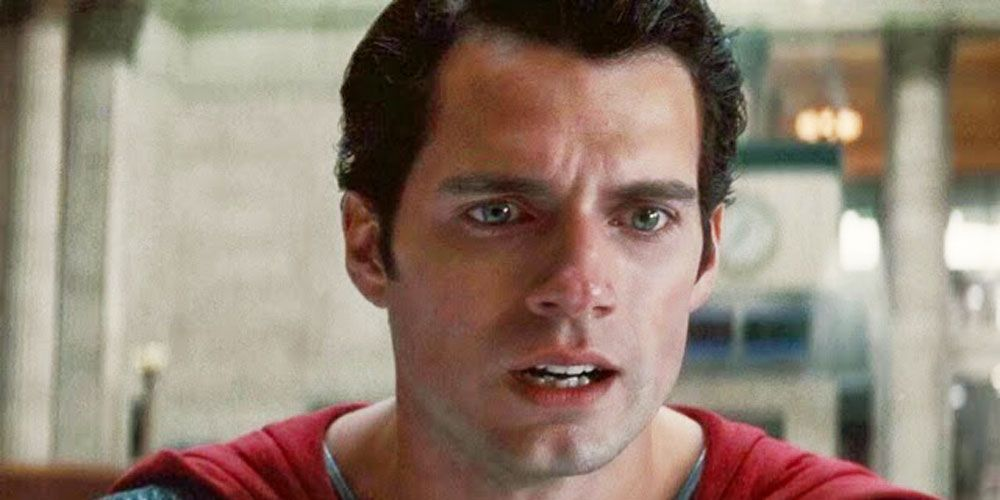 Henry Cavill Superman crying Man of Steel