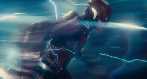 ezra miller as the flash in justice league trailer