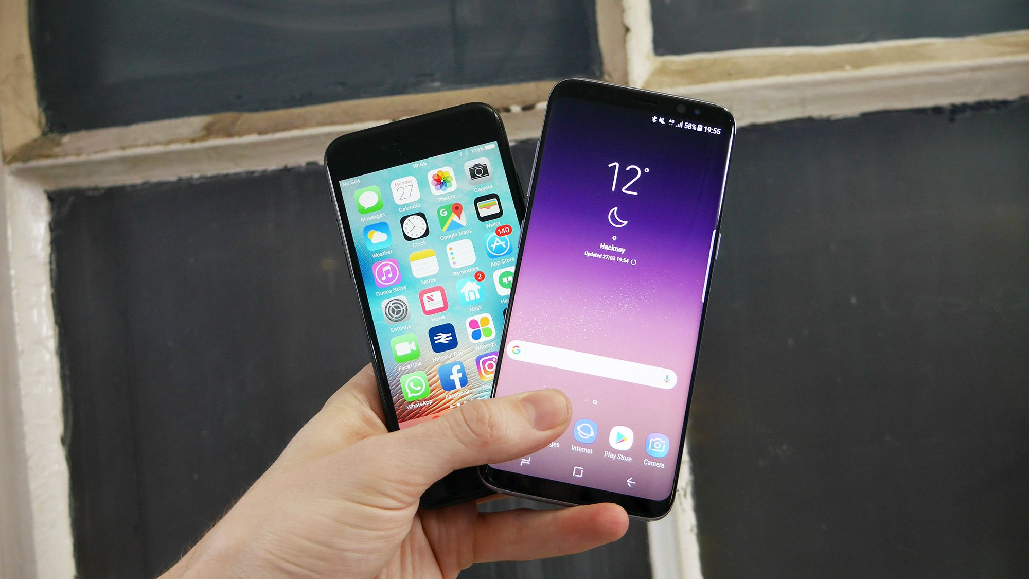 Iphone 6s vs samsung s8