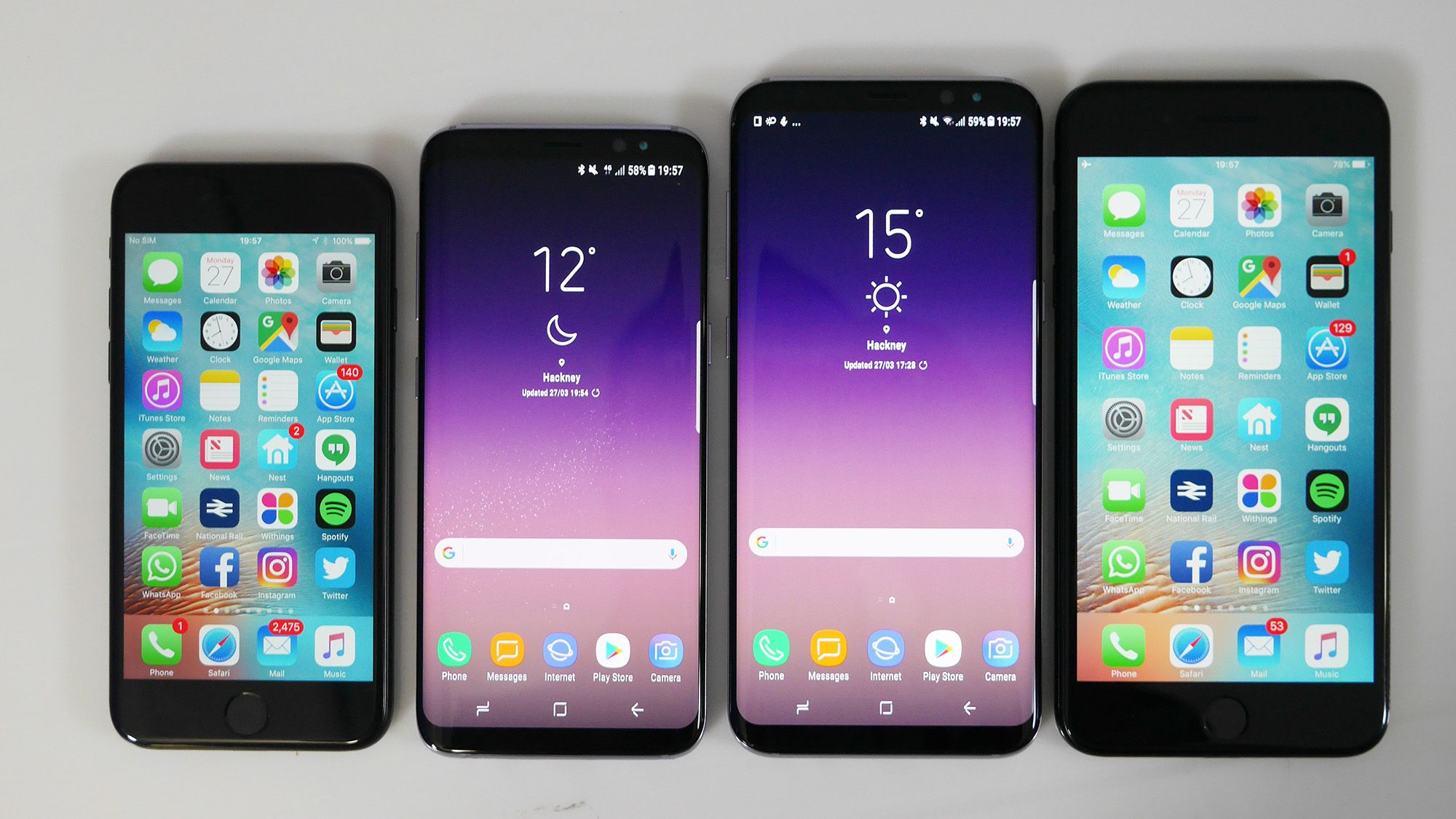 mobile spy iphone 6 Plus vs galaxy s8