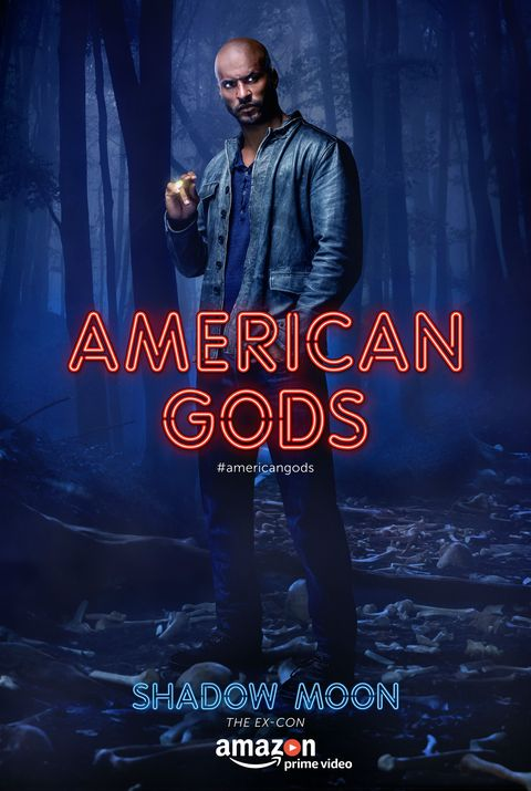 Shadow Moon American Gods character poster