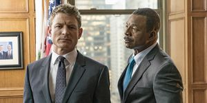Philip Winchester and Carl Weathers in 'Chicago Justice'