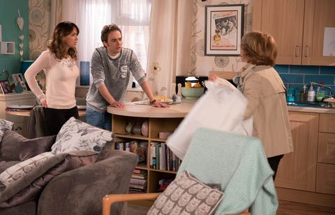 Gail McIntyre finds out that David and Maria's relationship is a wind-up in Coronation Street