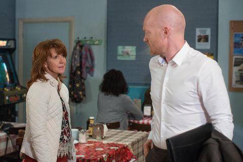 Max Branning tries to help Carmel Kazemi in EastEnders