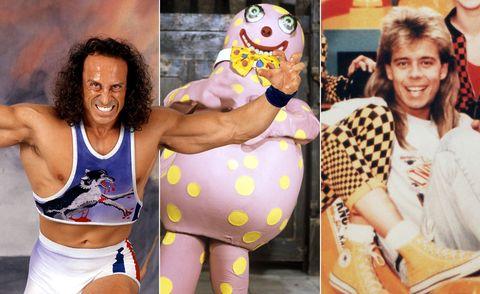Kids 90s TV Gameshows, Gladiator, Mr Blobby, Fun House