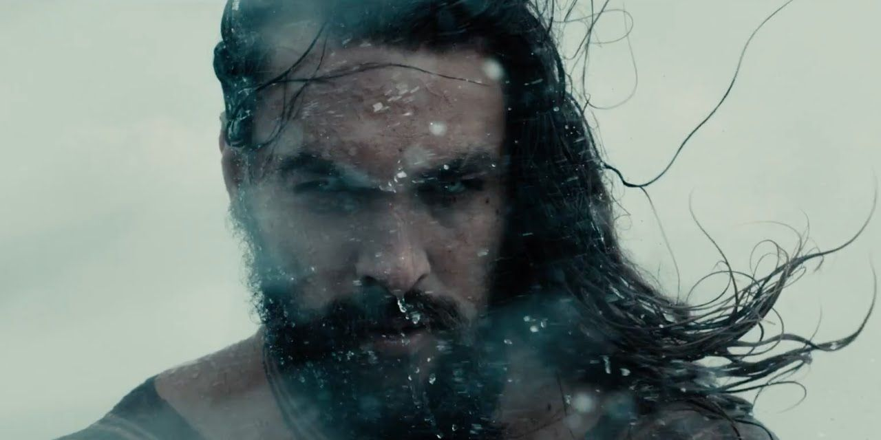 Aquaman star Jason Momoa - still from the Justice League trailer