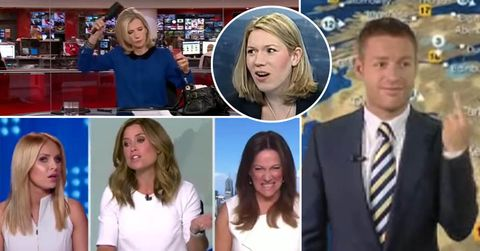 Live TV bloopers – presenters who didn't realise they were on live TV