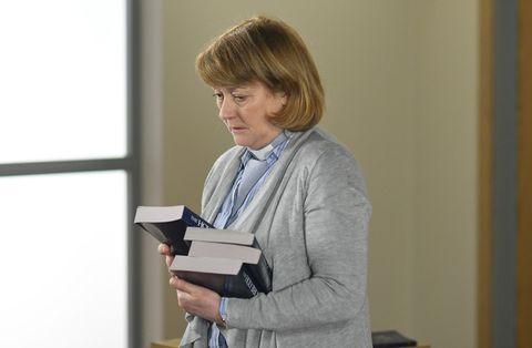 Reverend Mills visits Shirley Carter in EastEnders