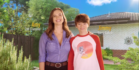 Amy and Jimmy Williams in the new Neighbours opening titles
