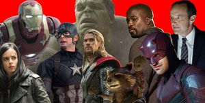 Marvel Universe, Luke Cage, Jessica Jones, Thor, Rocket, Iron Man, Dare Devil, Phil Coulson, The Hulk, Captain America