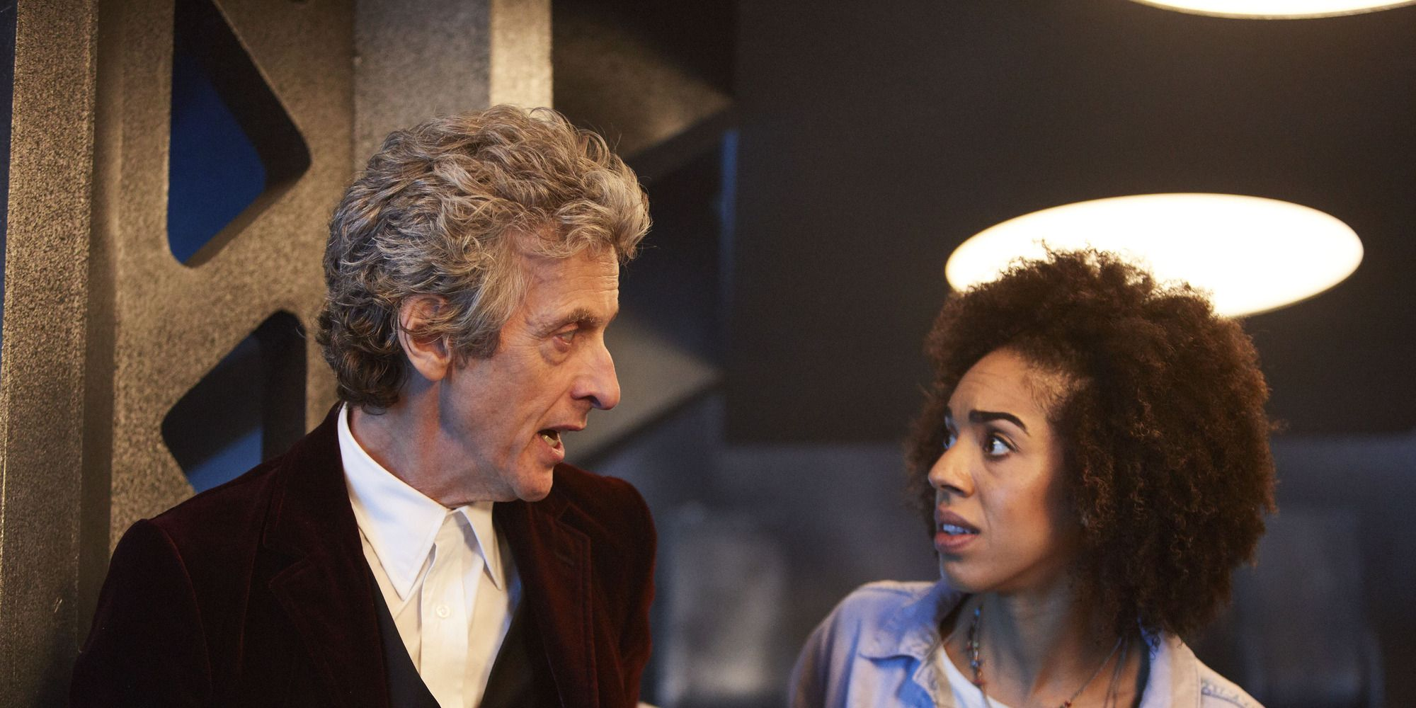 Peter Capaldi and Pearl Mackie in 'Doctor Who' s10e01, 'The Pilot'