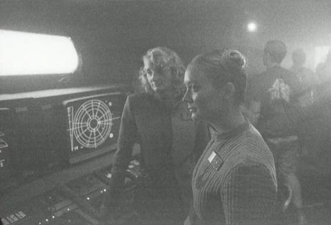 Billie Lourd on the set of Star Wars: The Last Jedi