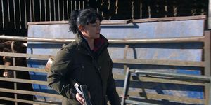 Moira Dingle goes out on patrol in Emmerdale