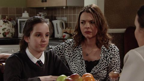 Amy Barlow is forced to speak to the police over Adam and Ken in Coronation Street