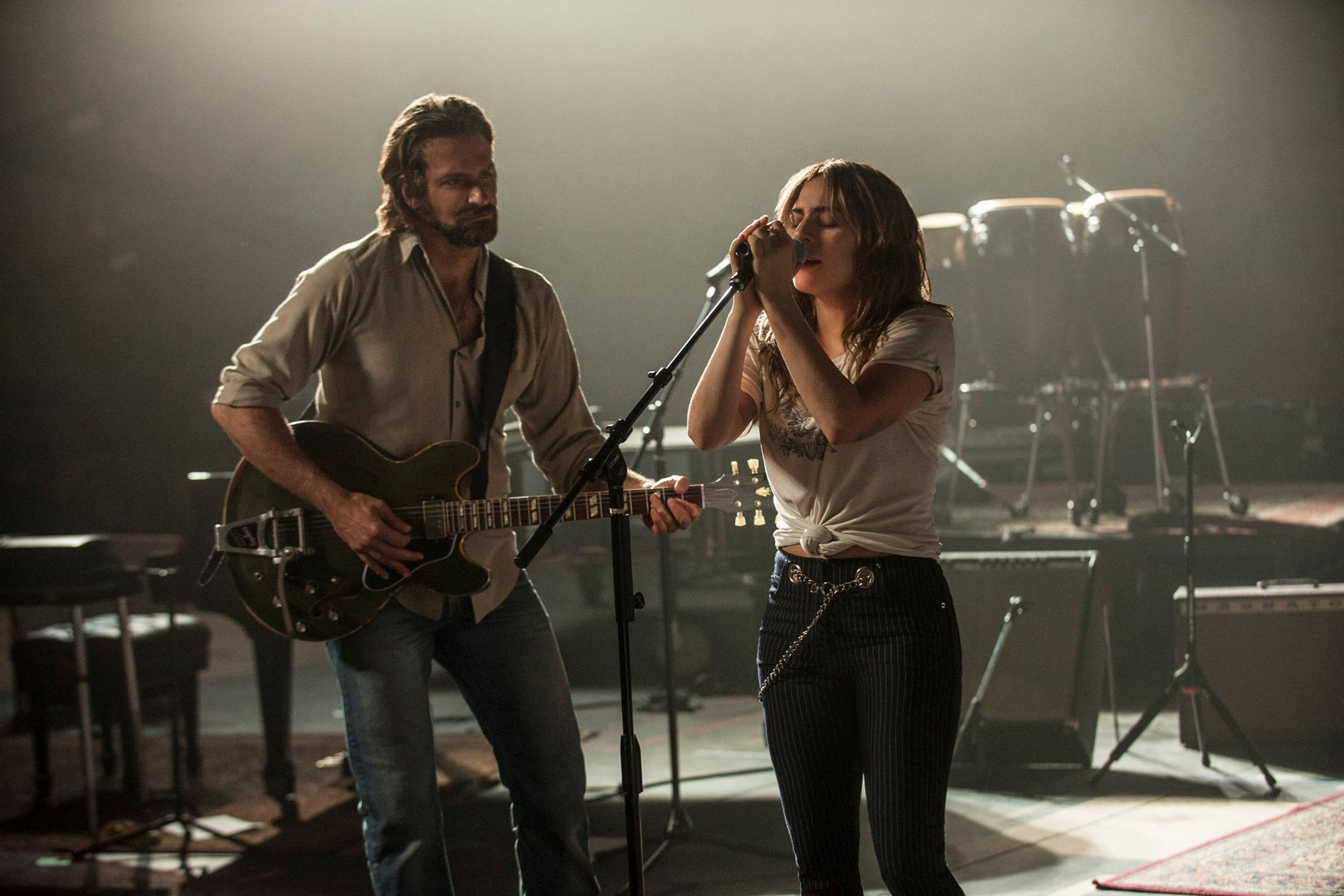 Lady Gaga in A Star Is Born production image
