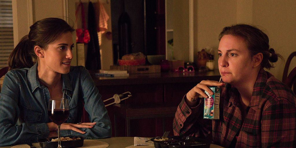 Allison Williams and Lena Dunham in the 'Girls' finale