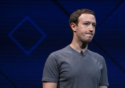 Mark Zuckerberg at the Facebook F8 Conference