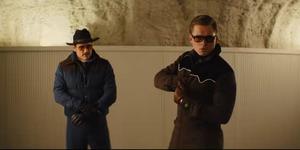 Pedro Pascal and Taron Egerton in Kingsman: The Golden Circle