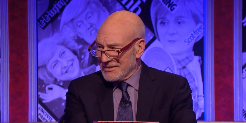 Sir Patrick Stewart on Have I Got News For You